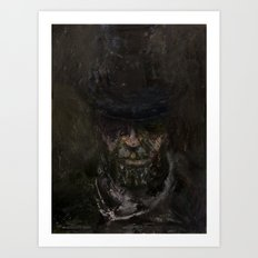 Sixteen (Abraham Lincoln, oil on canvas) Art Print