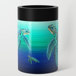 Sea Turtle Turquoise Oceanlife Can Cooler