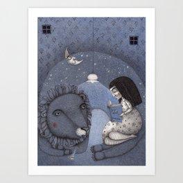 Lion Tamer Art Print