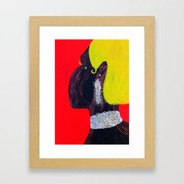 L'on est bien faible quand on est amoureux Framed Art Print