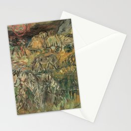 Kida Kinjiro - Pasture in the Falling Sun (1961) Stationery Cards