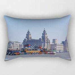 Liverpool Waterfront Skyline Rectangular Pillow