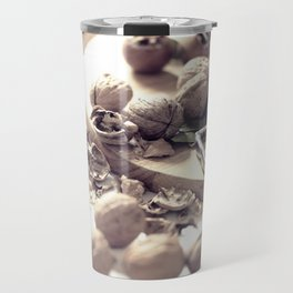 Food porn, still life, kitchen wall art, living room, home decor, nuts Travel Mug