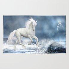White Unicorn Rug