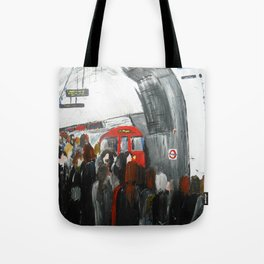 London Underground Part 3, England Acrylic On Canvas Board Fine Art Tote Bag