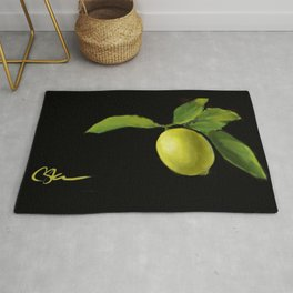 Lemon on Black DP150415a Rug