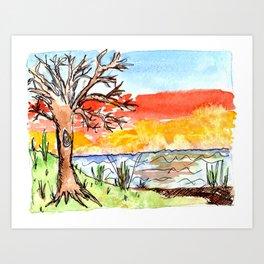 sunset art #3 Art Print
