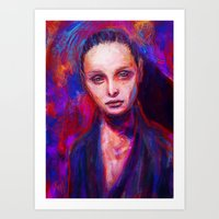 cyarin Art Prints featuring Sad eyes by Gyossaith