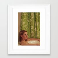 tenenbaum Framed Art Prints featuring MARGOT TENENBAUM by VAGABOND