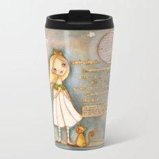 I See the Moon - Poetry print Metal Travel Mug