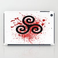 teen wolf iPad Cases featuring Triskele 2 by AlixInsanity