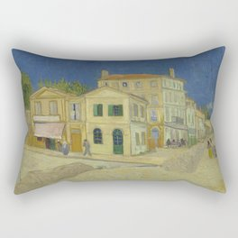 The Yellow House Rectangular Pillow