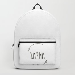 karma do good things what you do comes back to you inspired new 2018 wisdom simple word concept idea Backpack