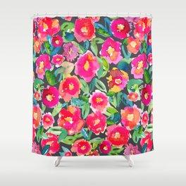 Hot floral mess - Dark Shower Curtain