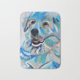 Colorful Great Pyreneese Bath Mat