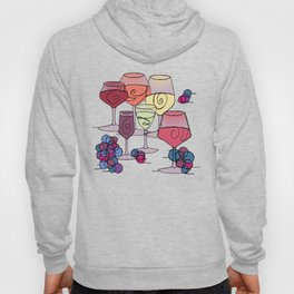 Wine and Grapes Hoody