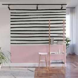 Millennial Pink x Stripes Wall Mural