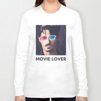 johnny depp Long Sleeve T-shirts featuring Johnny Depp by Pazu Cheng