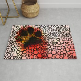 I Paw You - Stone Rock'd Dog Art By Sharon Cummings Rug