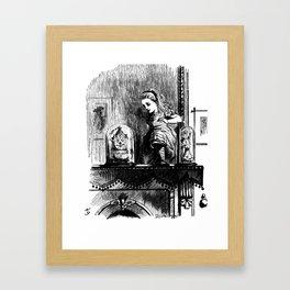 Alice climbing into the Looking Glass Land- John Tenniel Framed Art Print