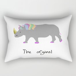unicorhino - the original Rectangular Pillow