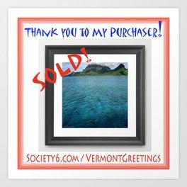 SOLD Frame Print of BoraBora Ocean Approach Art Print