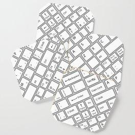 Keyboarded Coaster