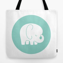 Mod Baby Elephant Teal Tote Bag