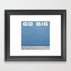 Go Big Framed Art Print
