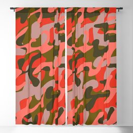 Coral Camouflage 2 Blackout Curtain