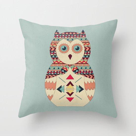 Hoot! Throw Pillow