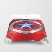 daenerys Duvet Covers featuring SHIELD by Smart Friend