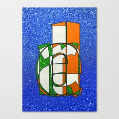 IRELAND - Glitter Canvas Print