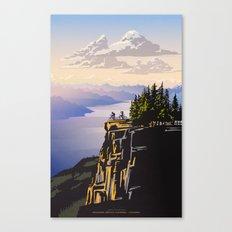 Retro travel BC poster Canvas Print