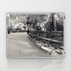 On a Park Bench At City Hall Laptop & iPad Skin