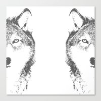 wolves Canvas Prints featuring WOLVES by Aonair Designs