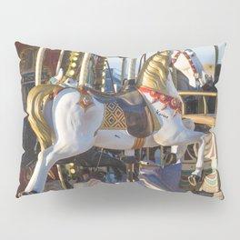 Wooden horse riding Pillow Sham