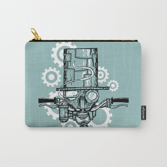Robot Handlebar Mustache  Carry-All Pouch