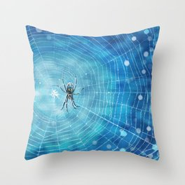 Spider in the Web Throw Pillow
