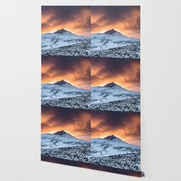 Golden hour sunset in Teide National Pak Wallpaper