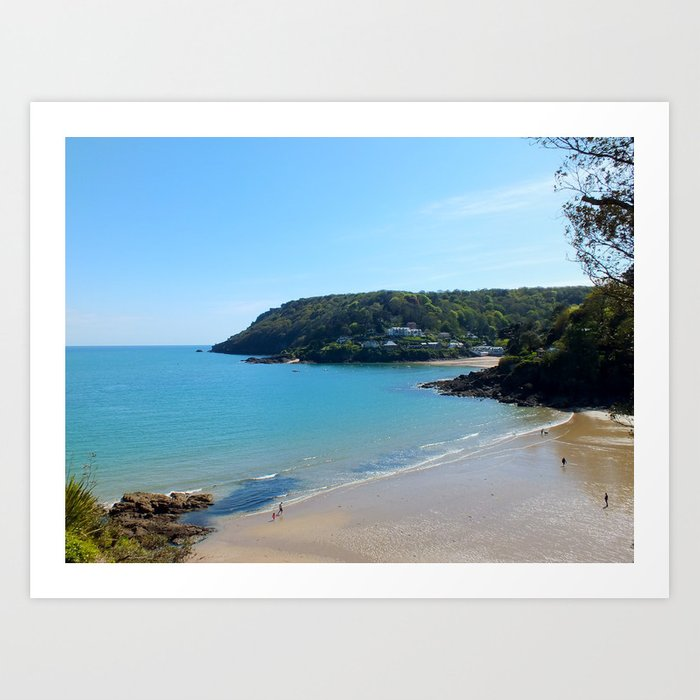 North Sands Beach, Salcombe Art Print
