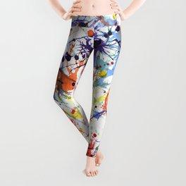 Watercolor Splatters Leggings
