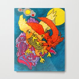 The Phoenix and the Griffin Metal Print