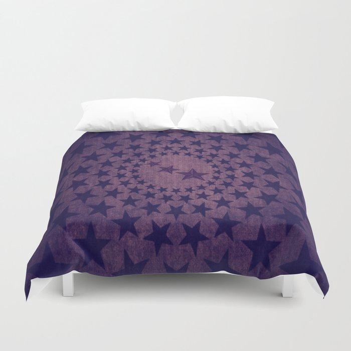 Purple stars decorative pattern Duvet Cover