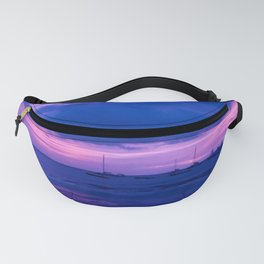 Dream Blue & Pink Sunset  Fanny Pack