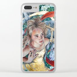 The Awakening, Goddess Artemis with Deer Clear iPhone Case