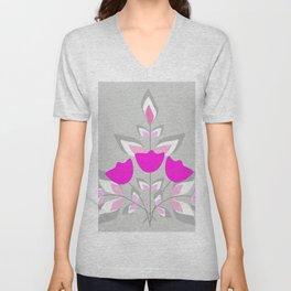 Fantasy flower multi Unisex V-Neck