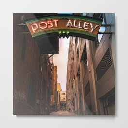 Post Alley in Seattle Washington Metal Print