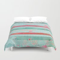 girly Duvet Covers featuring Girly Vintage by MJ'designs - Marosée Créations