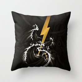 Electric Guitar Storm Throw Pillow
